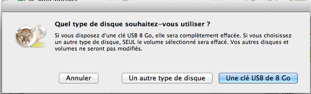 Lion Diskmaker l'application ultime pour créer une partition bootable d'OS X Mountain Lion - Créer un disque de démarrage