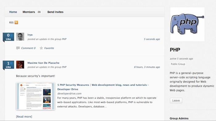 Mashant, le réseau social pour les développeurs ! - Fonctionnalités du réseau social de Mashant