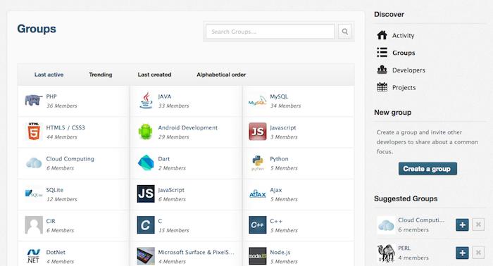 Mashant, le réseau social pour les développeurs ! - Gestion des groupes