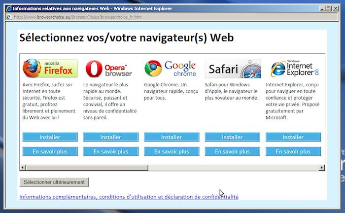 Microsoft fait face à l'amende de l'UE sur le choix du navigateur Web par défaut