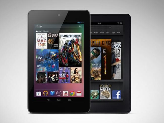 Nexus 7 vs. Kindle Fire : Laquelle devriez-vous acheter pour 200$ ? - Comparatif visuel entre la Nexus 7 et la Kindle Fire