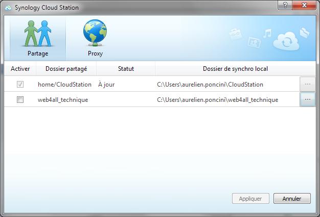 Présentation du nouveau DSM4.1 de Synology - CloudStation