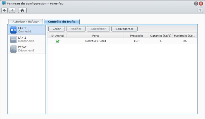 Présentation du nouveau DSM4.1 de Synology - Firewall