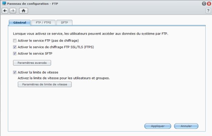Présentation du nouveau DSM4.1 de Synology - FTP
