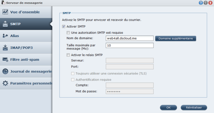 Présentation du nouveau DSM4.1 de Synology - Mail-Server