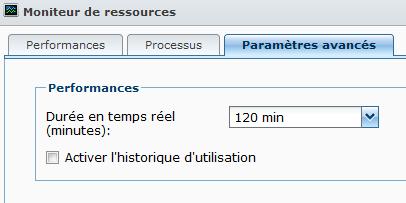 Présentation du nouveau DSM4.1 de Synology - Moniteur de ressources