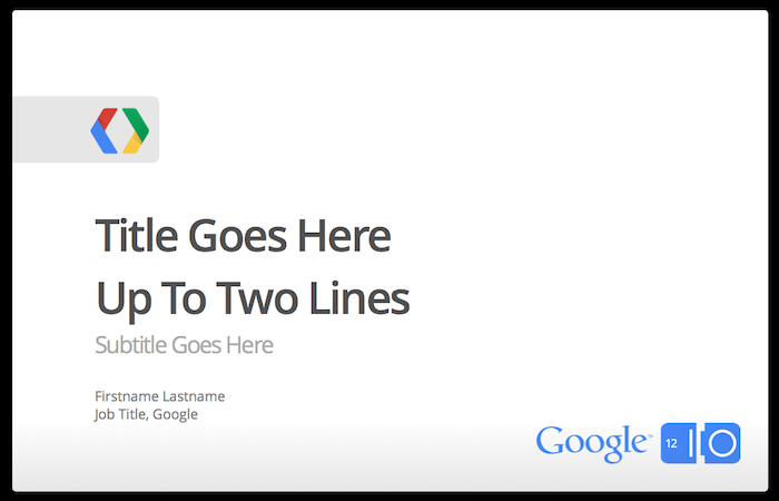 Présentation HTML5 : template de la Google I/O 2012