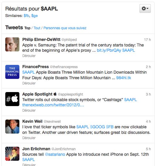 Twitter déploie le symbole boursier, ou Cashtags, afin que vous puissiez suivre vos investissements