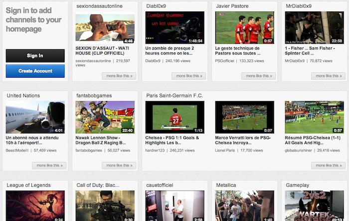 YouTube teste encore une autre interface page d'accueil nommée carrousel - Vidéos populaires dans le carrousel