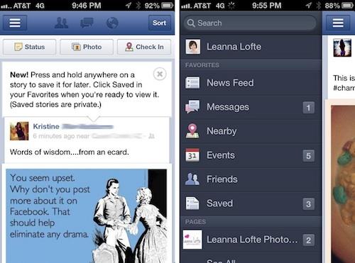 Facebook va bientôt vous permettre de sauvegarder les publications de votre flux d'activités - Saved Stories sur iOS