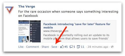 Facebook va bientôt vous permettre de sauvegarder les publications de votre flux d'activités - Sauvegarde d'une publication Facebook
