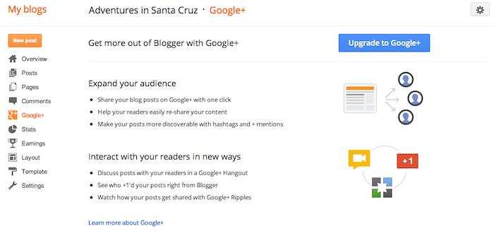 Google intègre enfin Google+ au sein de Blogger - Lien entre votre blog et votre profil Google+
