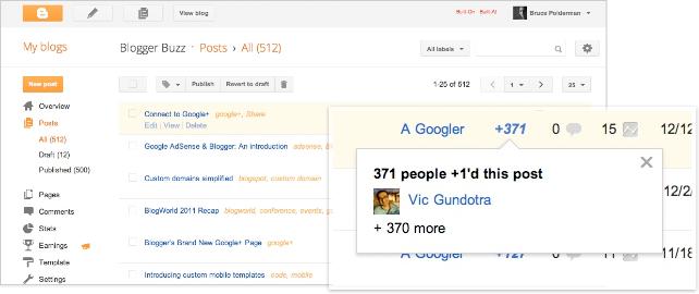Google intègre enfin Google+ au sein de Blogger - Partage de vos articles