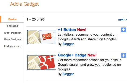 Google intègre enfin Google+ au sein de Blogger - Widget Google+
