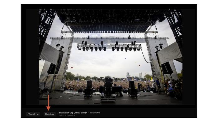 Google+ vous permet désormais de consulter les albums photos dans un diaporama - Lancement du diaporama