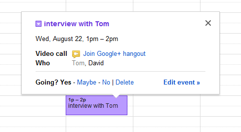 Google vous permet désormais d'enregistrer vos Hangouts dans Google Agenda