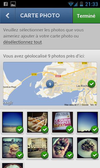 Instagram 3.0 débarque en apportant notamment la géolocalisation - Sélection et dé-sélection des photos géolocalisées
