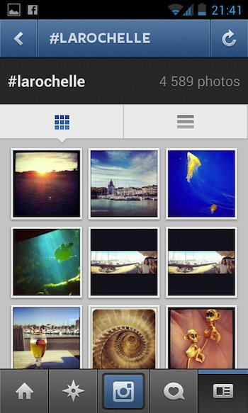 Instagram 3.0 débarque en apportant notamment la géolocalisation - Nouvelle gestion de la recherche par hashtag