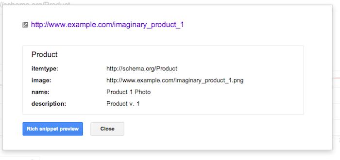 Les données structurées arrivent sur Google Webmaster Tools - Attributs pour chaque type d'élément