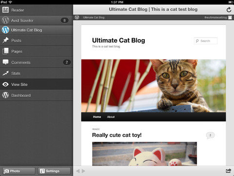 Wordpress pour iOS obtient une mise à jour majeure concernant l'interface utilisateur