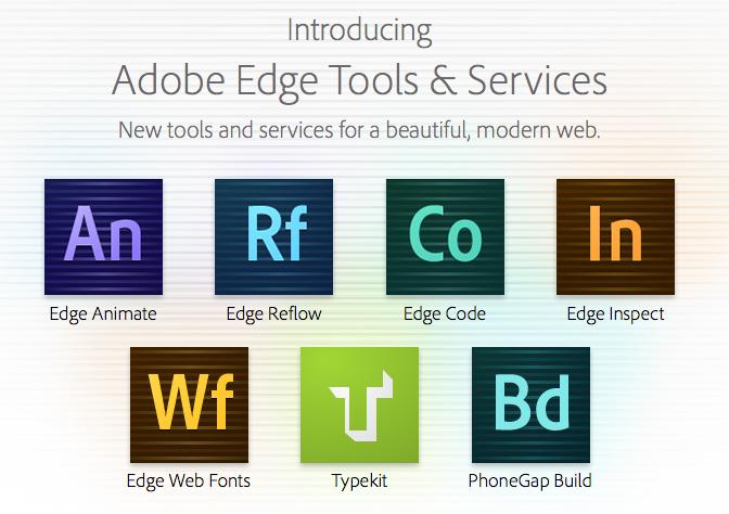 Adobe introduit Edge pour le développement HTML5 - Nouveaux outils d'Adobe Edge