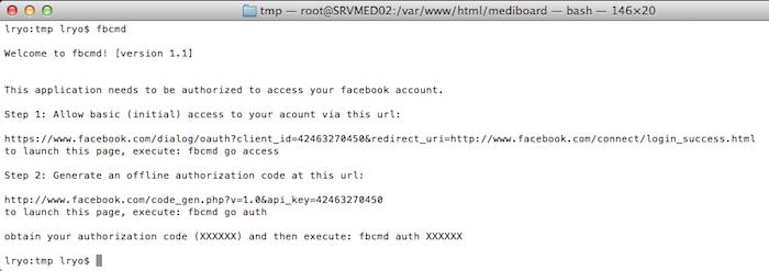 Comment accéder à Facebook en ligne de commande ? - fbcmd-auth_error