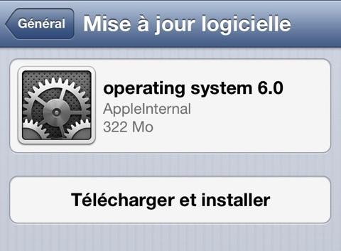 Comment mettre à jour votre iPhone, iPod et iPad pour iOS 6 ? - Mise à jour OTA
