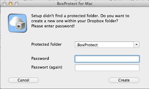 Crypter votre dossier Dropbox sur votre Mac avec BoxProtect - Créez un dossier protégé Dropbox dans BoxProtect