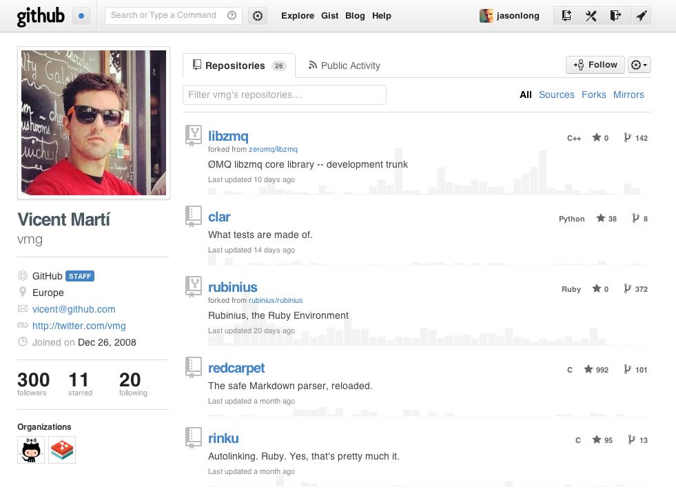 GitHub remodèle les pages des profils - Nouvelle version de la page de profil