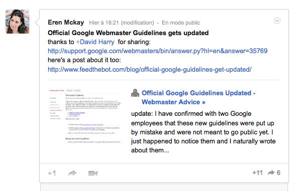 Google pourrait bientôt mettre à jour ses conseils aux webmasters