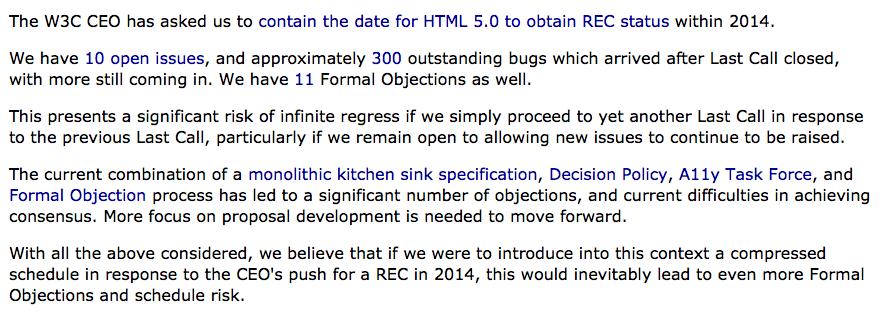 HTML 5 en 2014, HTML 5.1 en 2016 selon le W3C