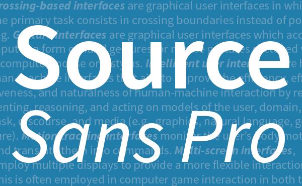 Source Code Pro : de nouvelles polices provenant d'Adobe dédiées aux développeurs