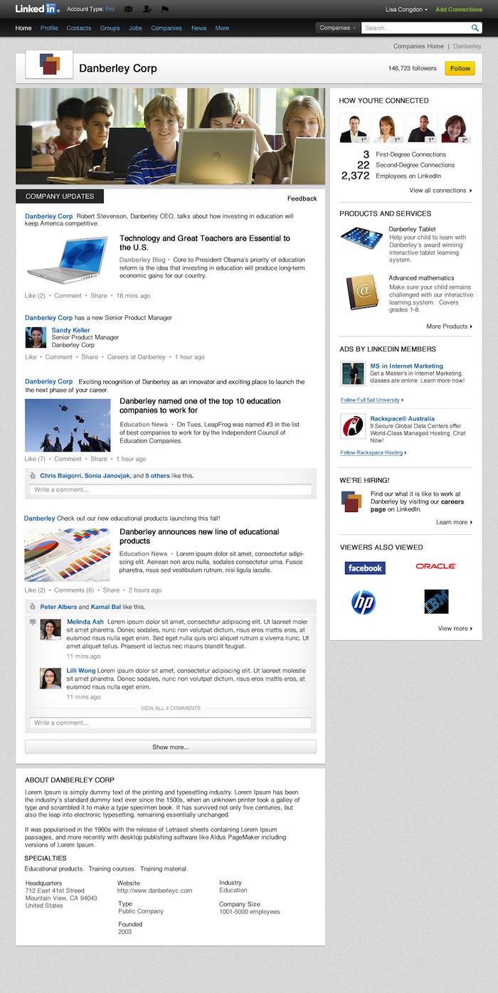 Voici à quoi vont ressembler les nouvelles pages des sociétés sur LinkedIn
