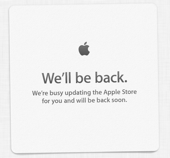We're busy updating the Apple Store for you and will be back soon