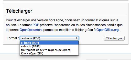 Wikipédia s'exporte au format ePub pour une lecture hors-ligne