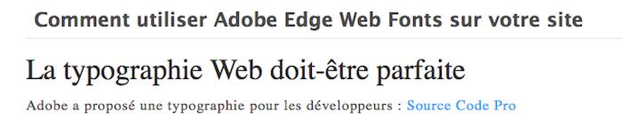Comment utiliser Adobe Edge Web Fonts sur votre site