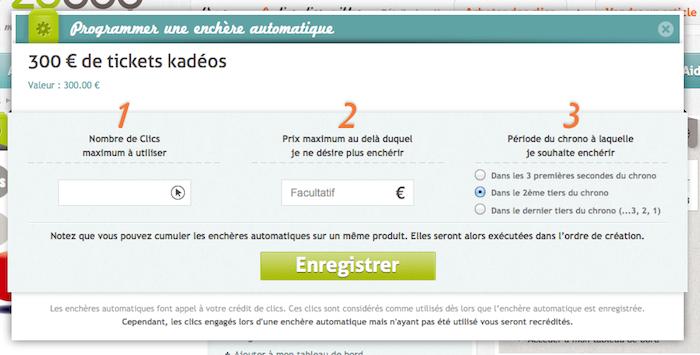 E-Zybuy, un site e-commerce d'achat ludique qui reprend le concept de l'enchère aux clics - Programmer une enchère automatique