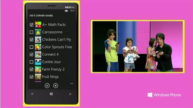 Événement Windows Phone 8 : Microsoft parle de l'avenir des smartphones - Microsoft introduit Kids Corner sur Windows Phone 8