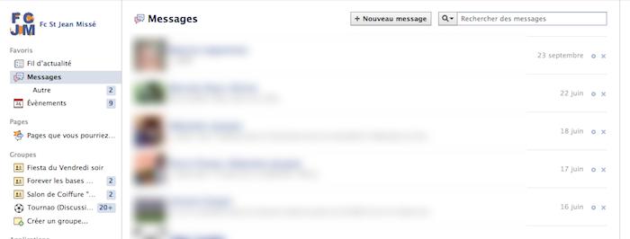 Facebook Messages se modernise en modifiant son interface utilisateur - Ancienne interface de Facebook Messages