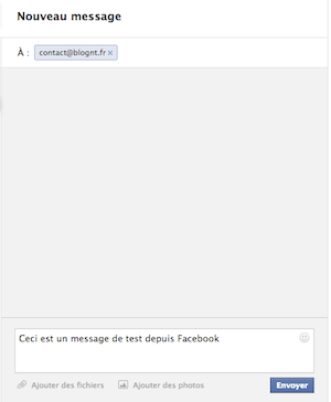 Facebook Messages se modernise en modifiant son interface utilisateur - Envoi d'un message depuis Facebook Messages
