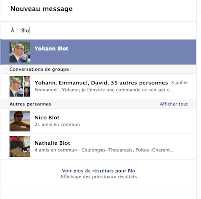Facebook Messages se modernise en modifiant son interface utilisateur - Recherche avancée Facebook Messages