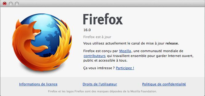 Firefox 16 disponible demain, mais téléchargez-le dès maintenant