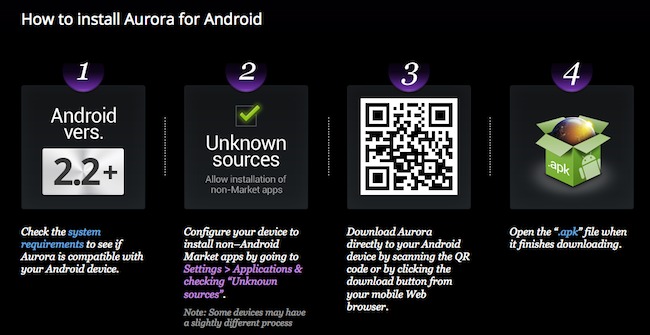 Firefox Marketplace est maintenant ouvert dans la dernière release Aurora