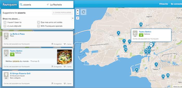 Foursquare réinvente la recherche locale avec une nouvelle page d'accueil