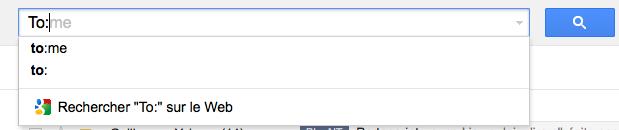 Gmail offre la possibilité de rechercher dans les pièces jointes - Auto-complétion pour le champ de recherche To: