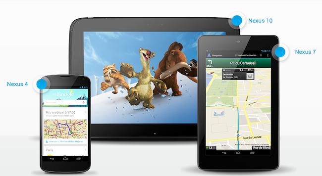 Google annonce sa nouvelle gamme de périphériques Nexus - Nexus 4, Nexus 7 et Nexus 10