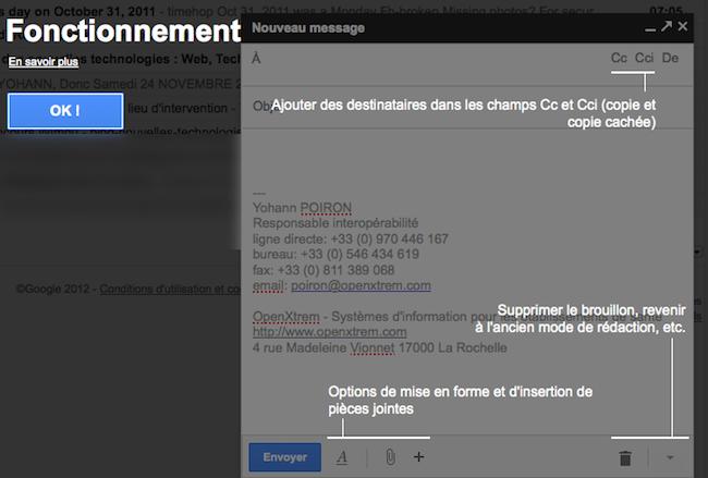 Découvrez le nouveau mode de rédaction des messages au sein de Gmail - Nouveau mode de rédaction