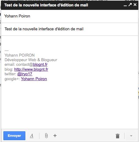 Découvrez le nouveau mode de rédaction des messages au sein de Gmail - Test du nouveau mode de rédaction