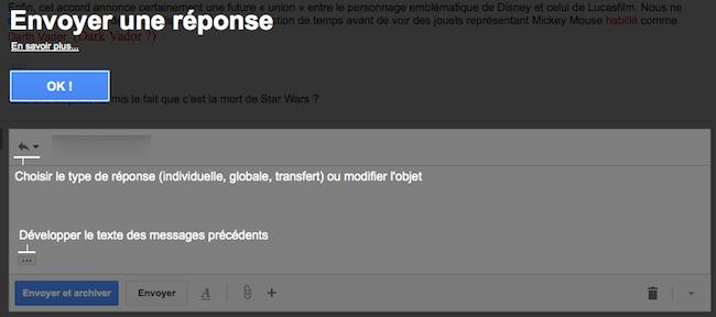 Découvrez le nouveau mode de rédaction des messages au sein de Gmail - Nouveau mode de rédaction également pour les réponses