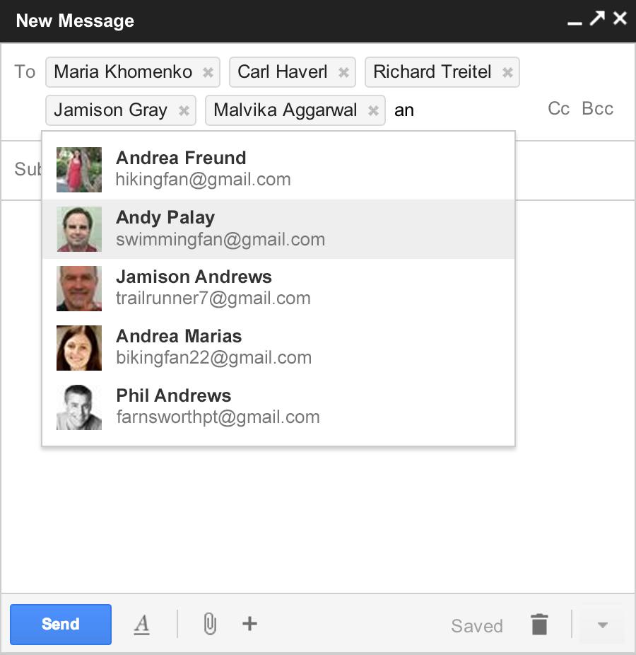 Découvrez le nouveau mode de rédaction des messages au sein de Gmail - Gestion des contacts